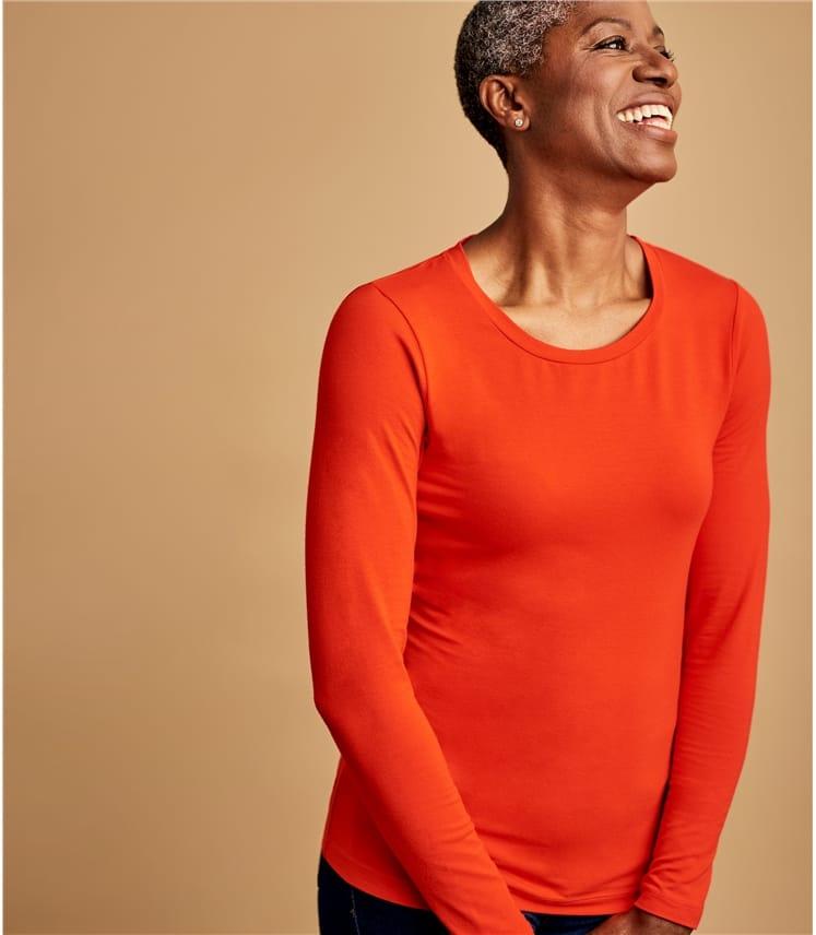 Womens Basic Jersey Long Sleeve Top
