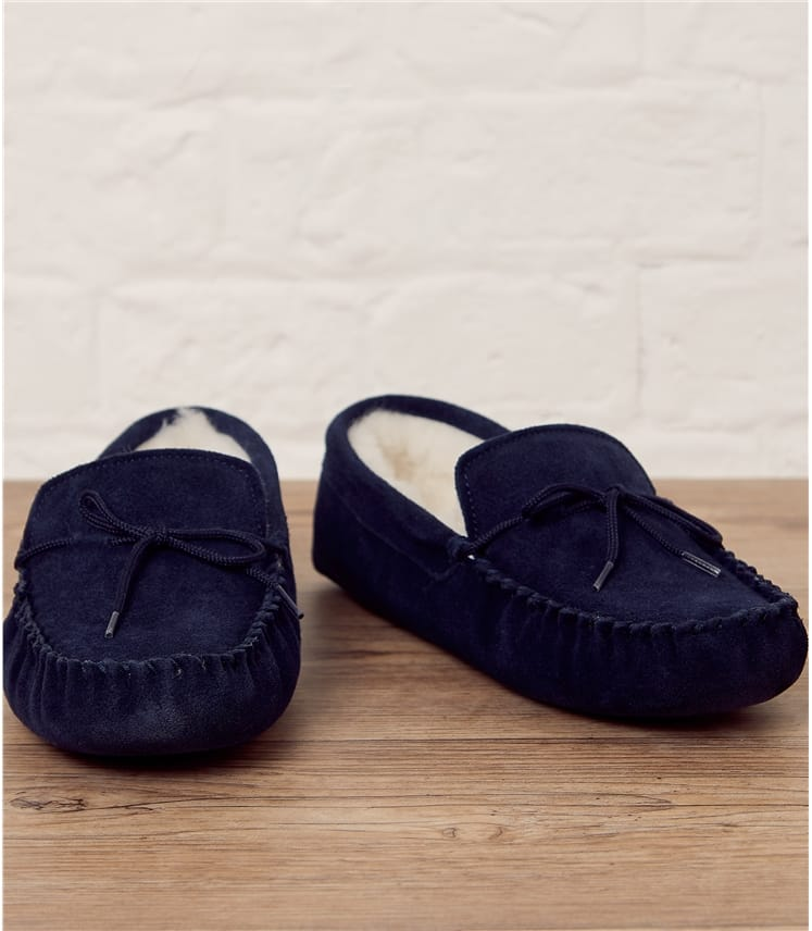 Mens Sheepskin Moccasin Slipper