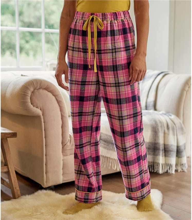 Womens Woven Check Pyjama Bottoms