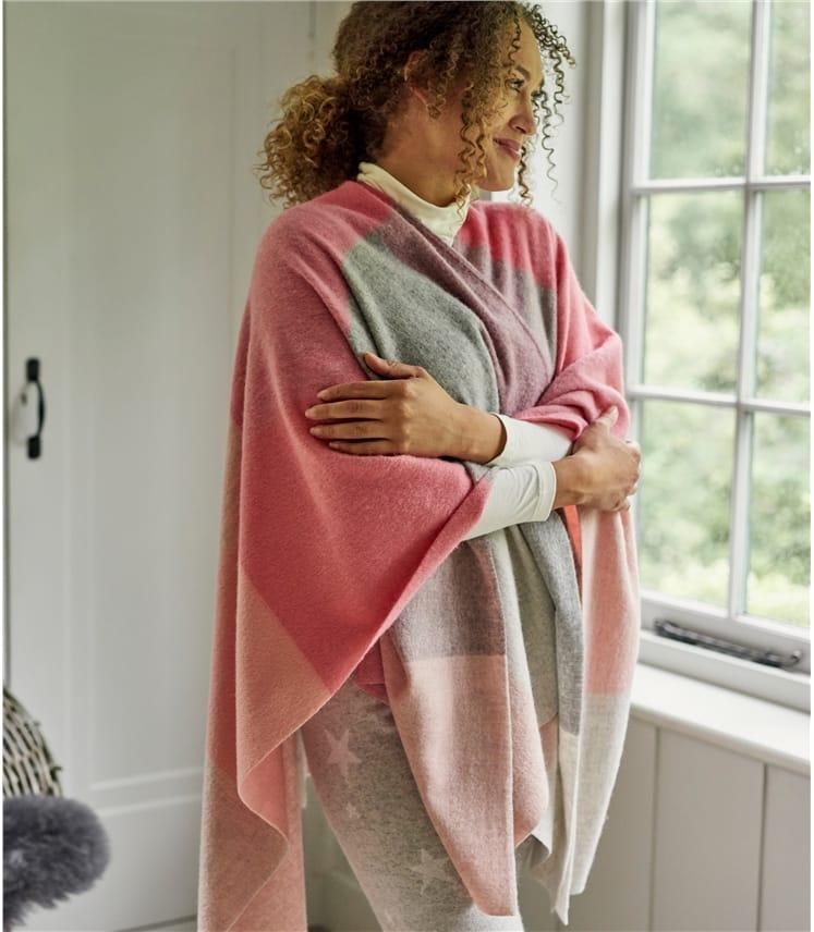 Womens Woven Check Wrap