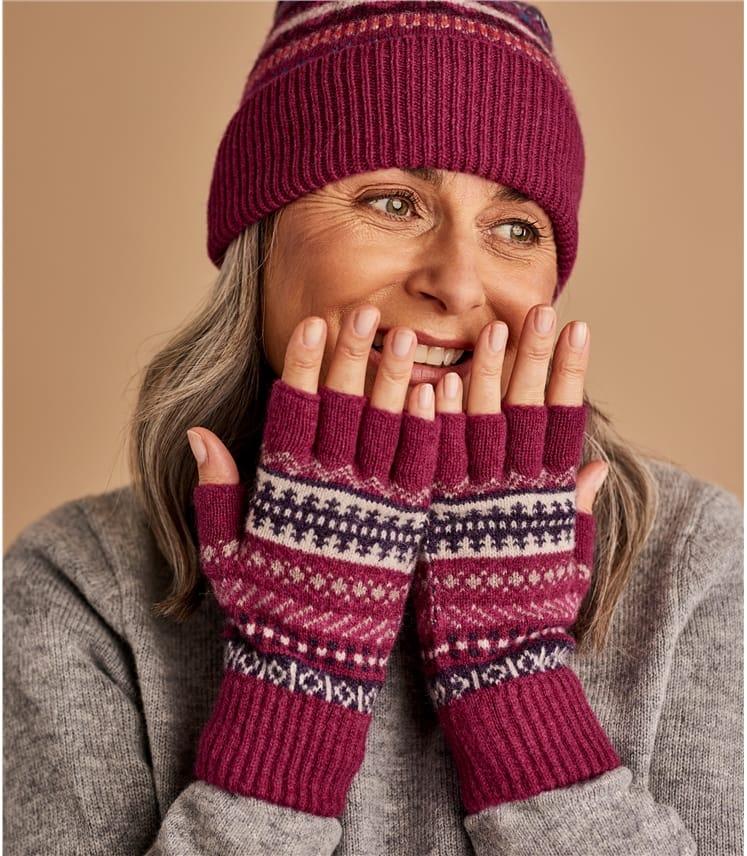 Womens Fairisle Gloves