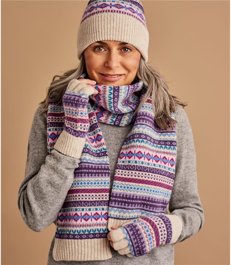 Womens Fairisle Gloves