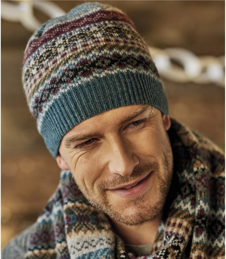 Mens Fairisle Scarf