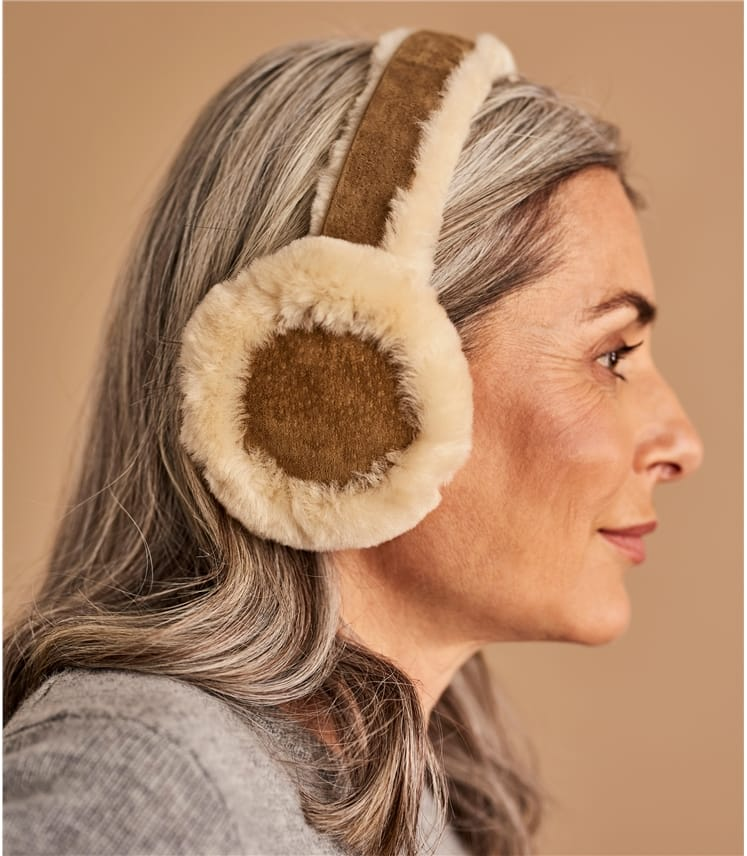 Womens Sheepskin Earmuffs