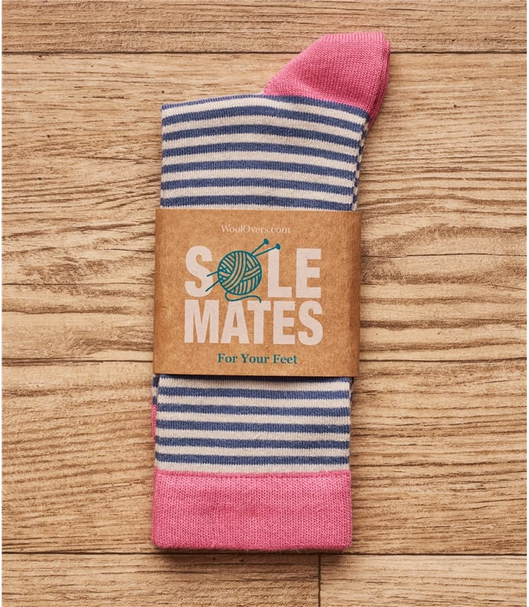 Womens Bamboo Stripe Sock