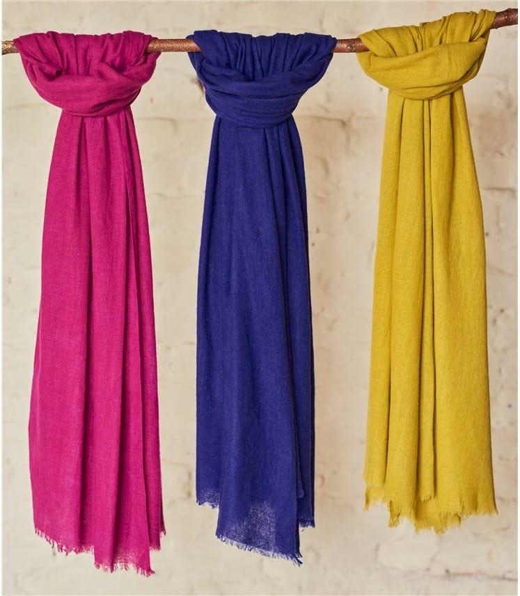 Womens Woven Yak Wool Scarf