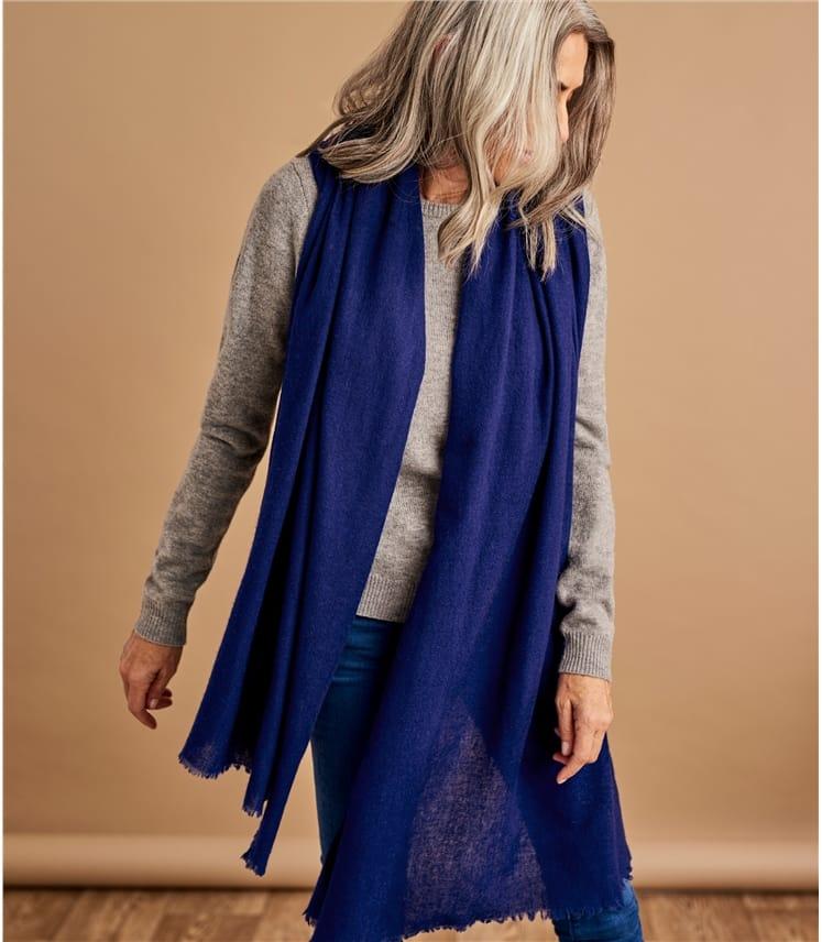 Womens Woven Wool Scarf