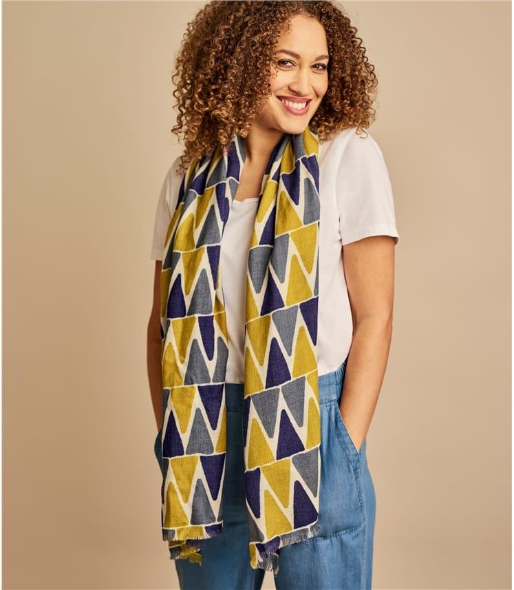 Womens Pure Wool Multi Triangle Scarf