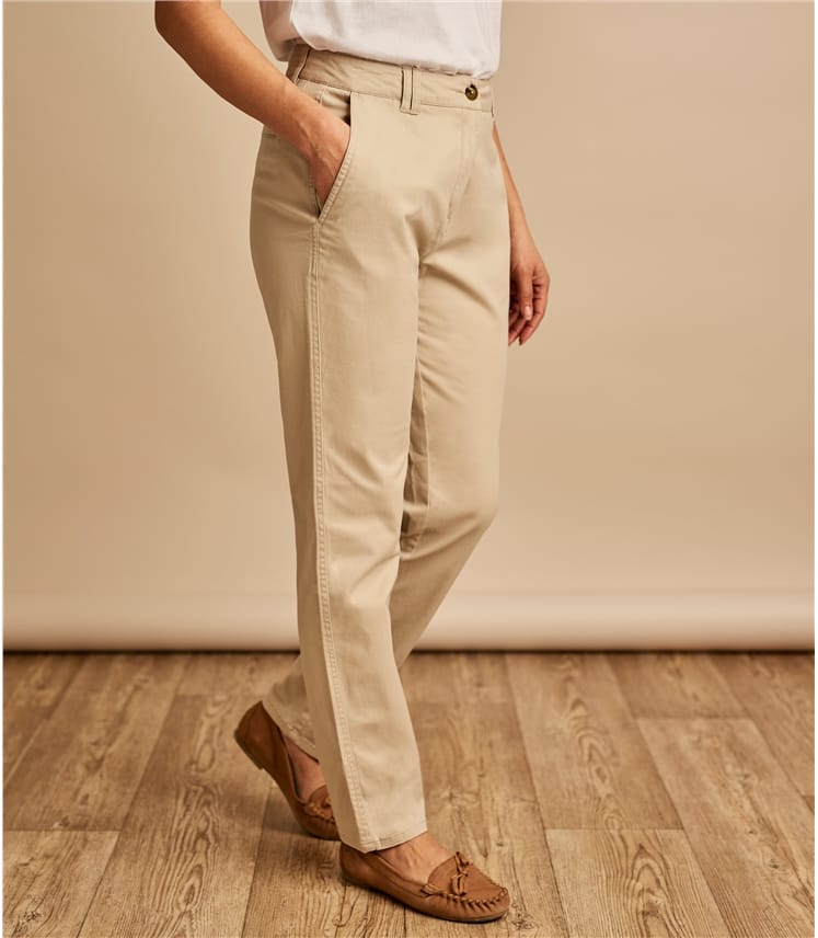 Womens Cotton Chino