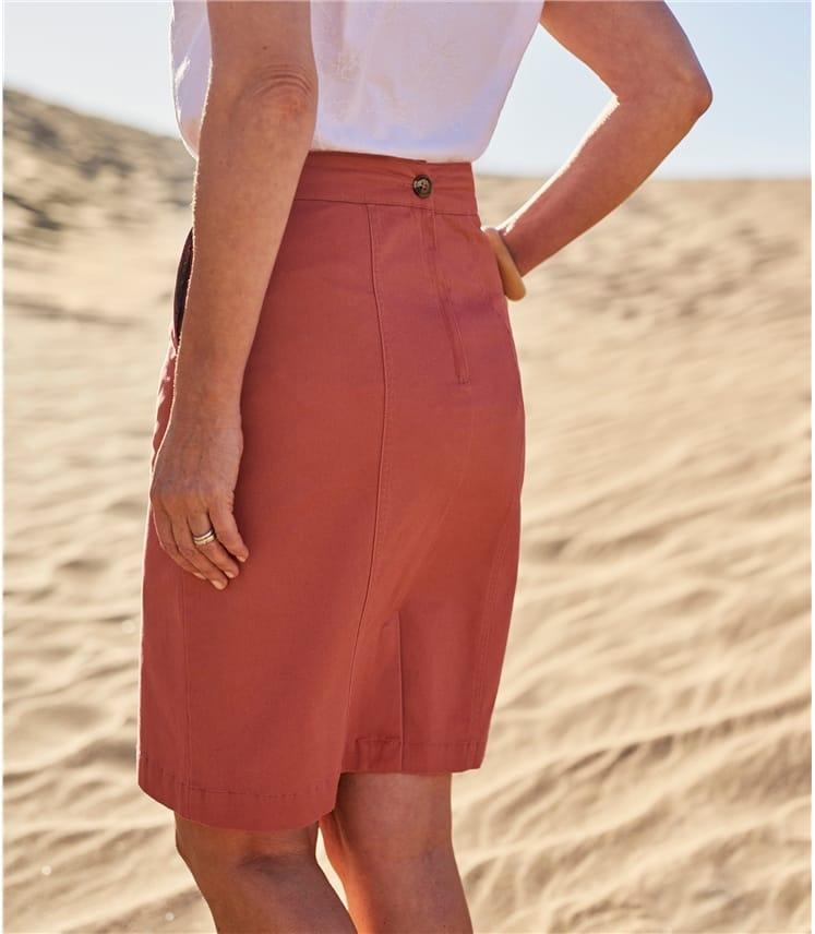 Womens Cotton Chino Skirt