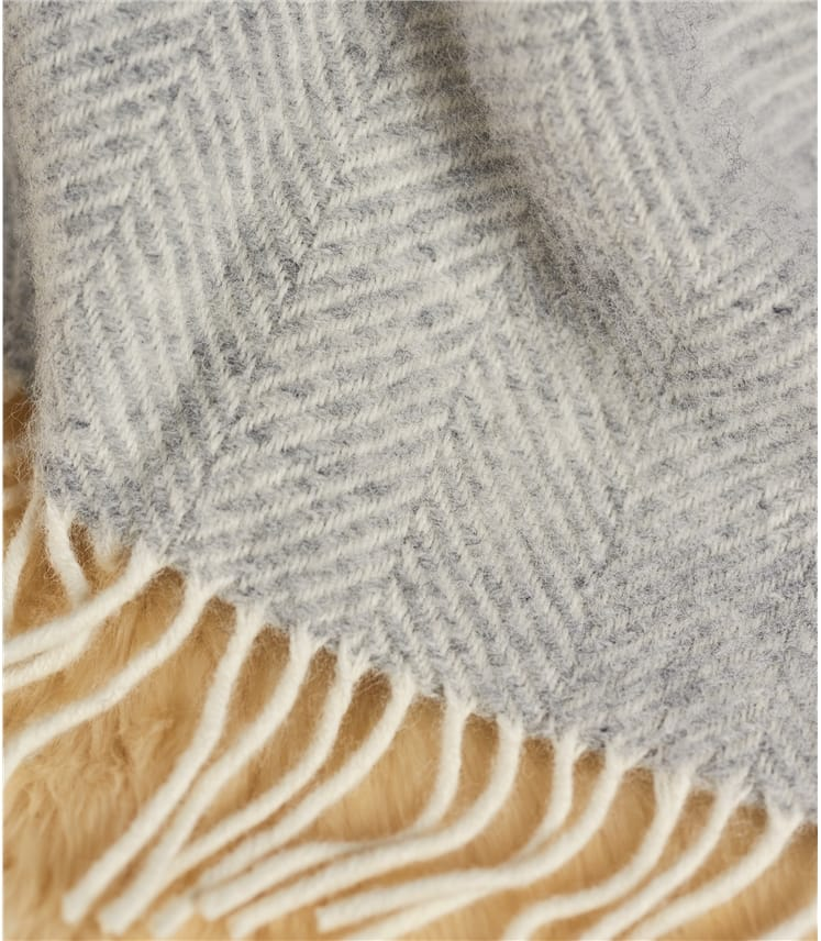 Pure New Wool Fishbone Throw