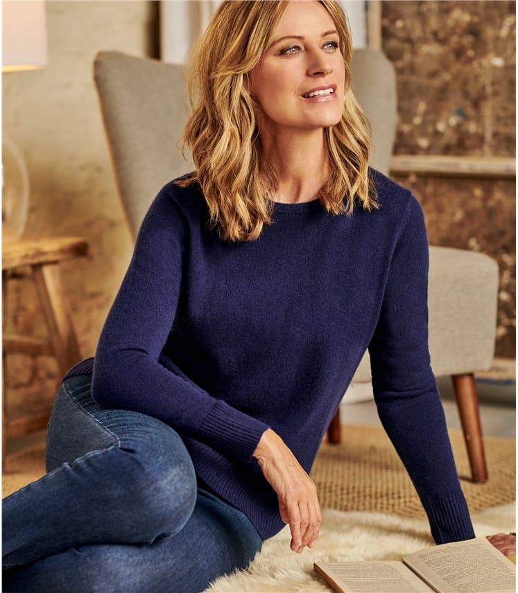 Luxurious Cashmere Crew Neck Sweater