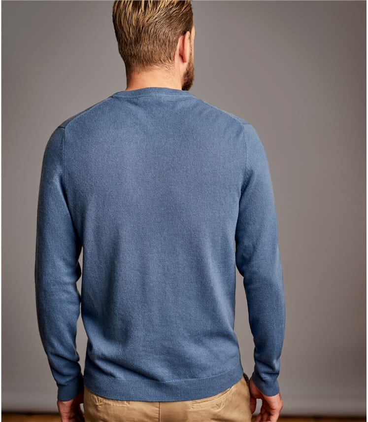 Mens Pure Cashmere Crew Neck Jumper