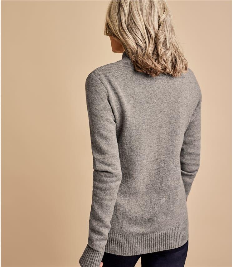Женская кофта на молнии из натуральной шерсти ягненка