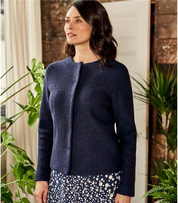 Womens Boiled Wool Jacket