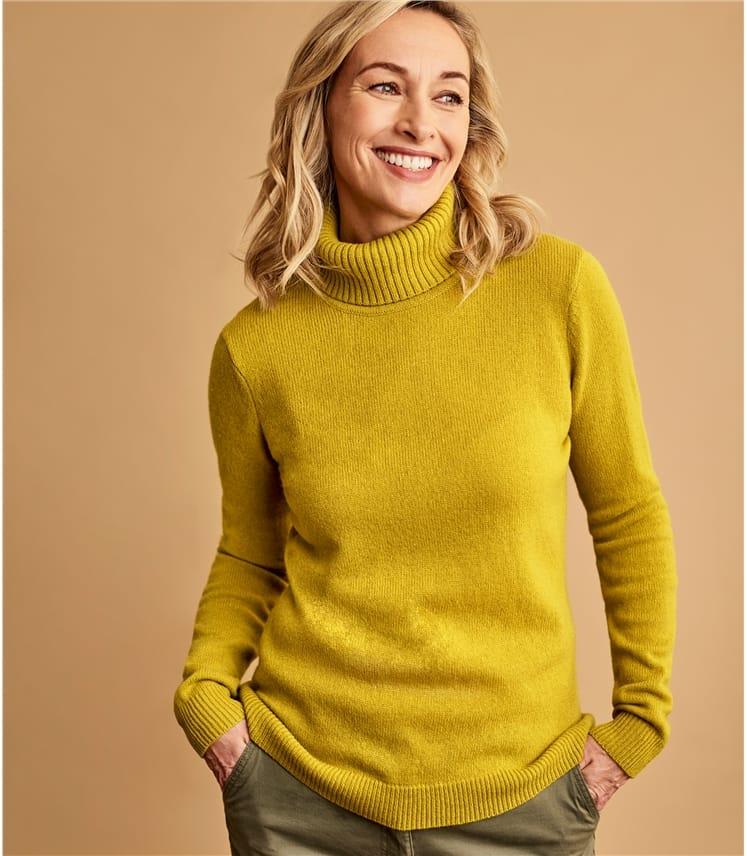 Womens Lambswool Polo Sweater