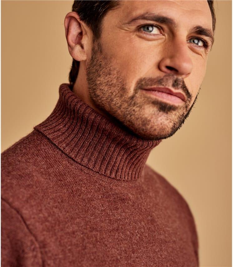 Мужской свитер из натуральной шерсти ягненка
