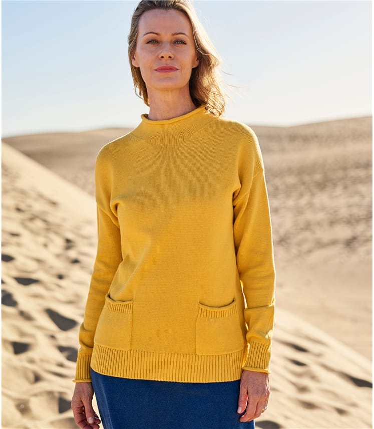 Cotton Rib Pocket Jumper