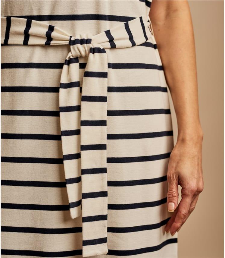 Womens Tie Waist T-Shirt Dress