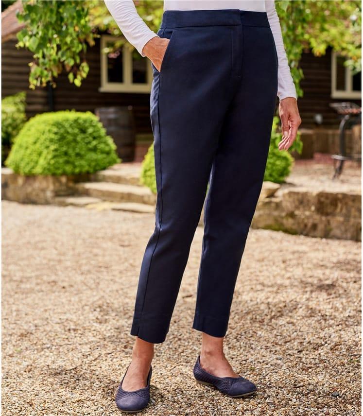 Pantalon cigarette stretch - Femme - Coton mélangé