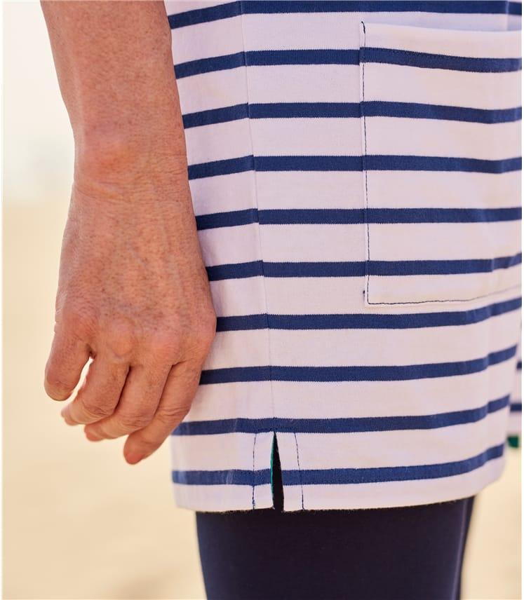 Womens Nautical Button Tunic