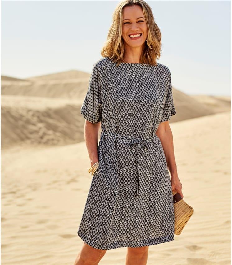Womens Tile Print Dress
