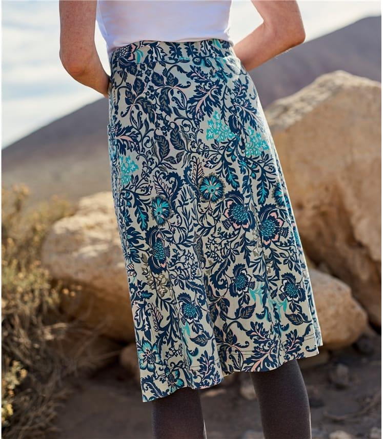 Womens A Line Pocket Detail Skirt