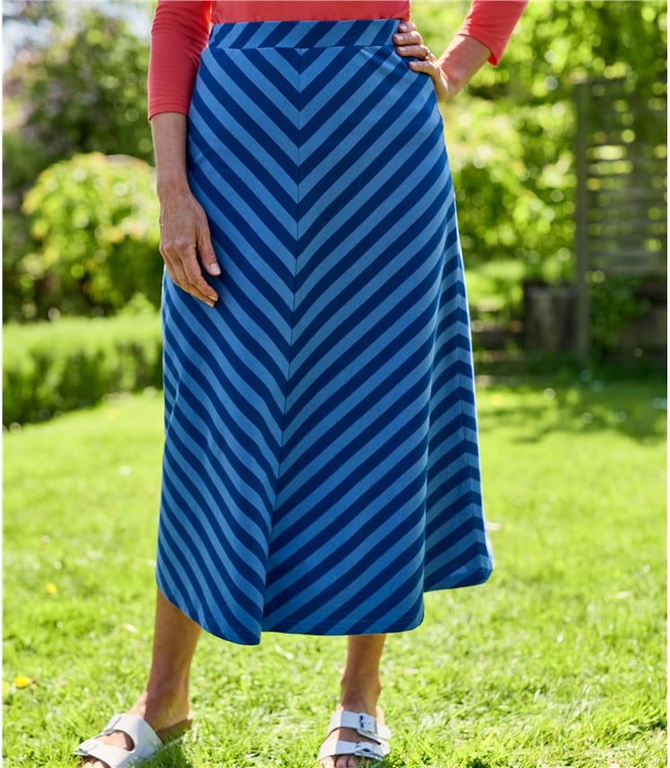 Womens Diagonal Stripe Skirt