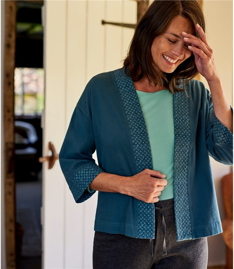 Womens Embroidered Jersey Jacket