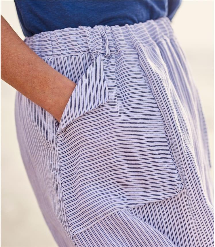 Jupe classique à poches - Femme - Pur Lin