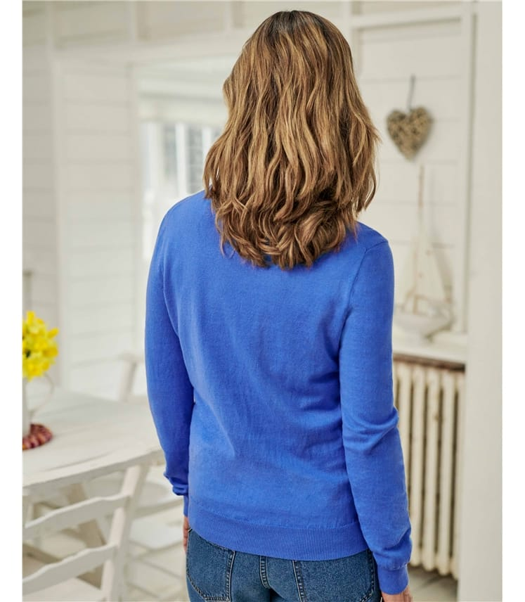 Cashmere and Cotton Crew Neck Sweater