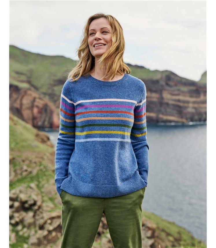 Lambswool Multi Stripe Sweater