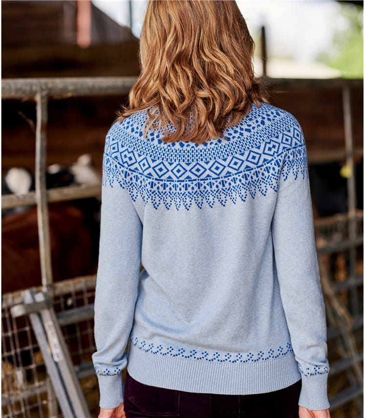 Womens Yoke Fairisle Jumper