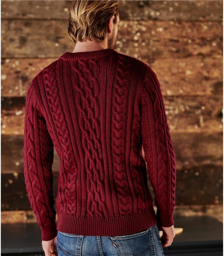 Pure Wool Aran Knitted Sweater