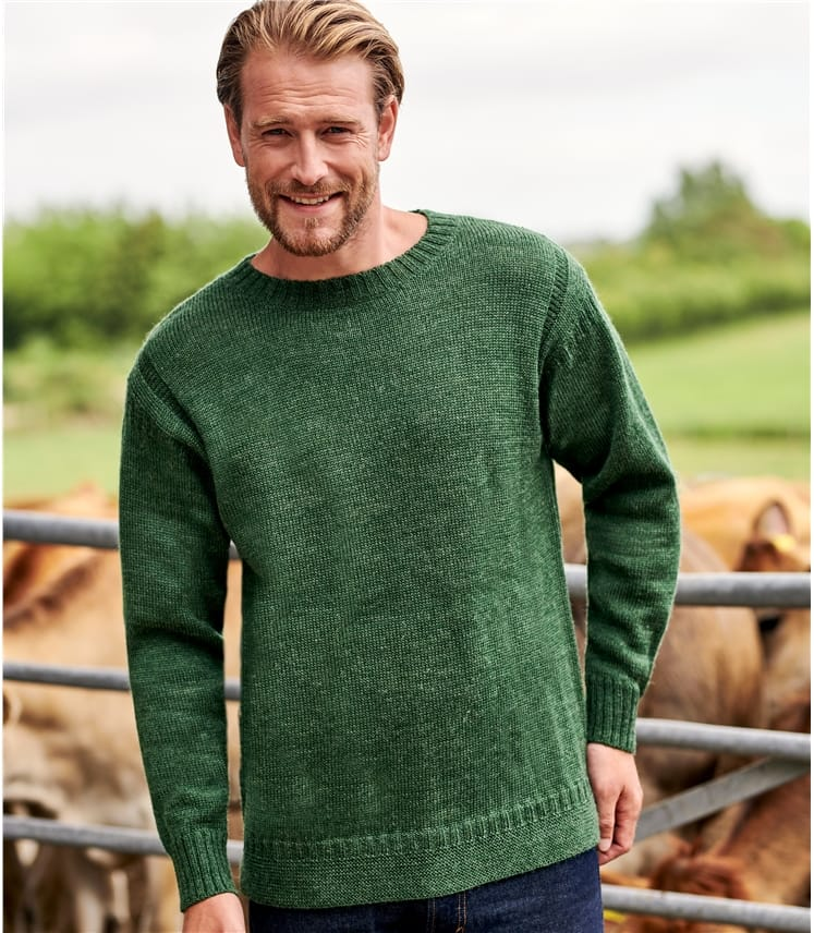 100% Pure Wool Knitted Guernsey Jumper