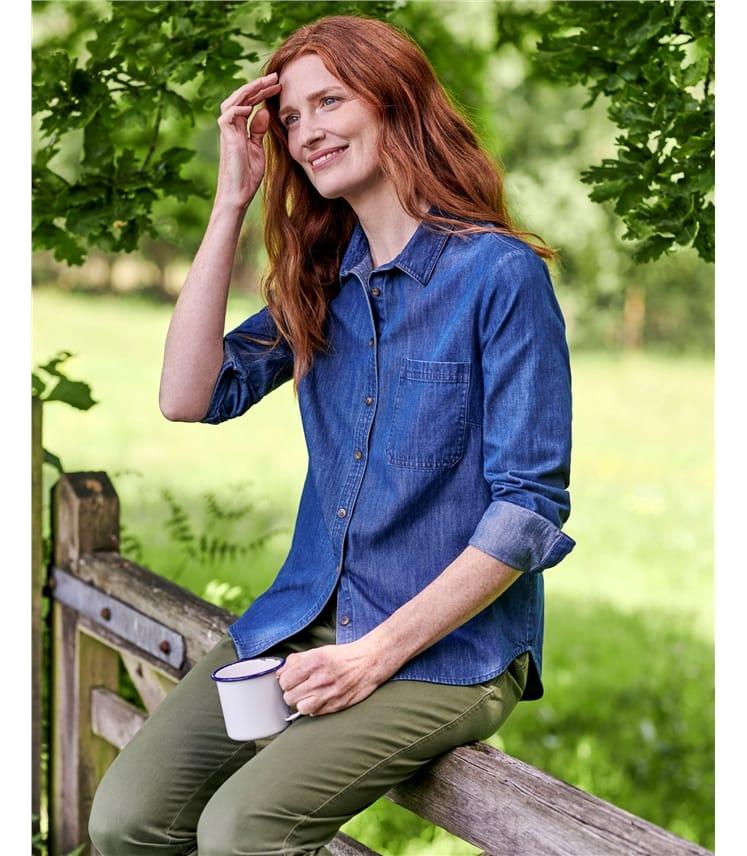 Chemise en jean - Femme - Pur Coton