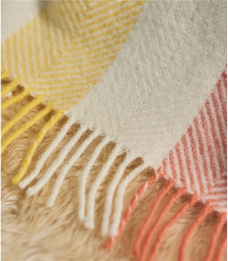 Pure Wool Herringbone Throw
