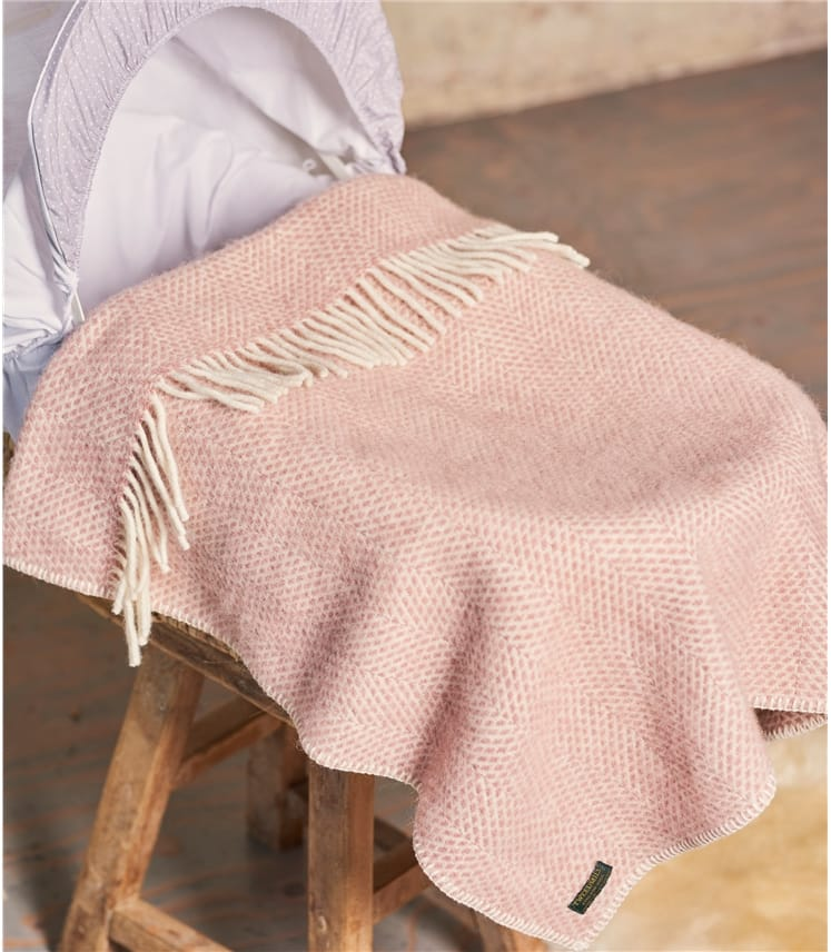 Pure New Wool Pram Blanket