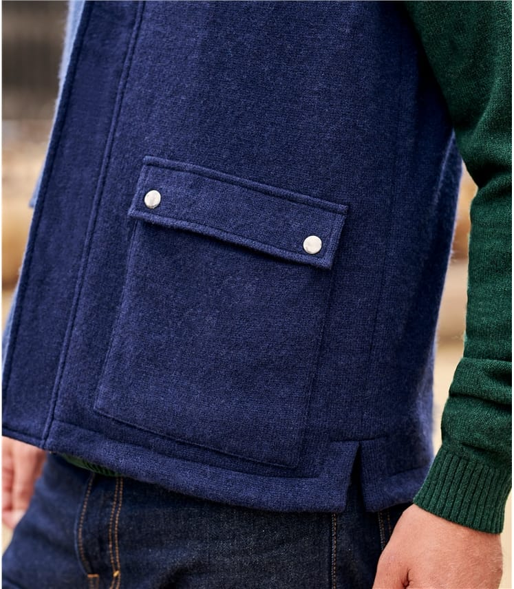 Mens Knitted Pocket Gilet