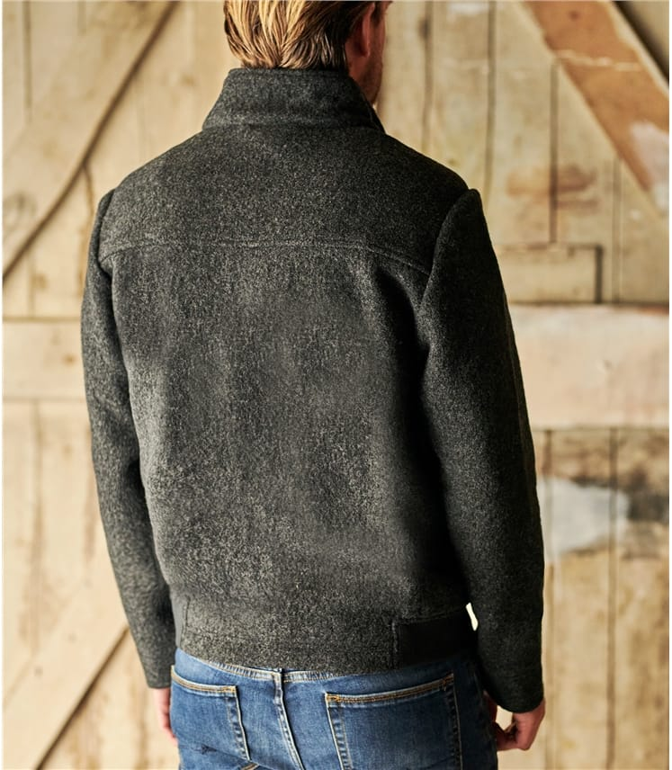 Mens Boiled Wool Jacket