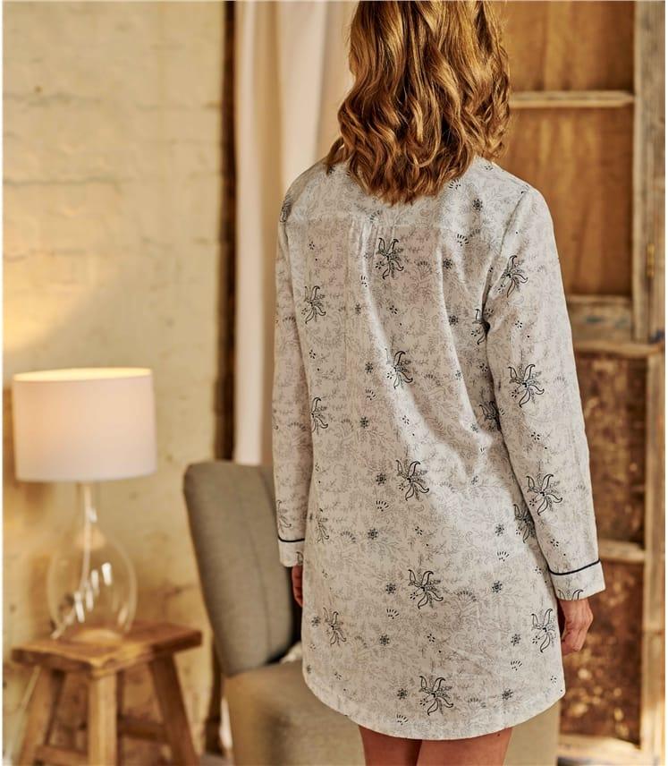 Womens Cotton Dobby Nightshirt
