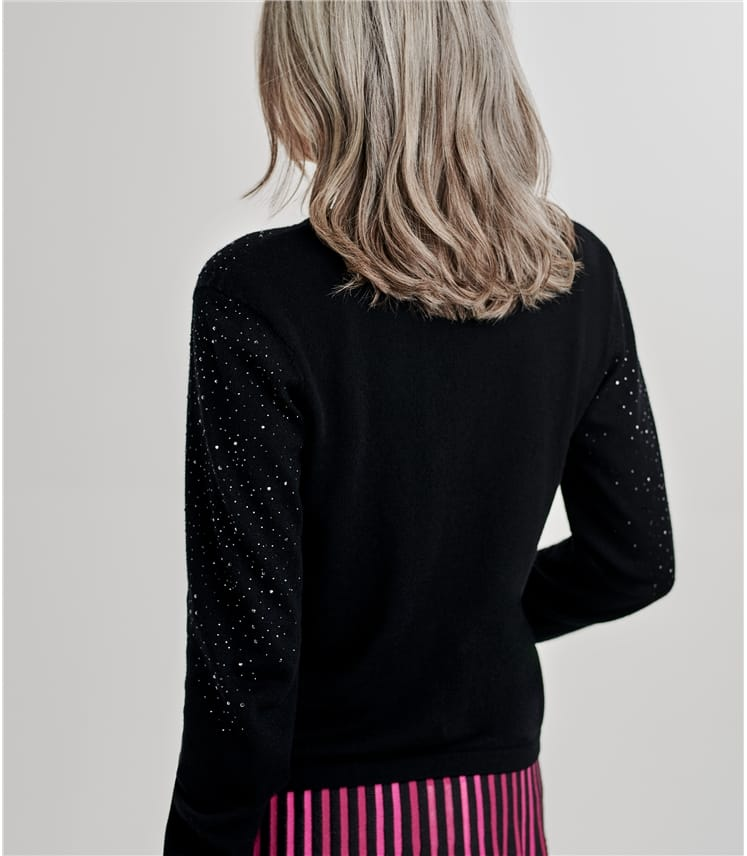 Womens Open Sparkle Detail Cardigan