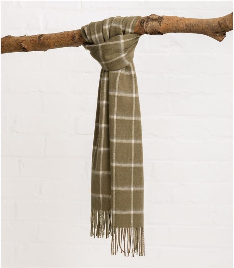 Grobkarierter Schal aus reiner Wolle für Herren