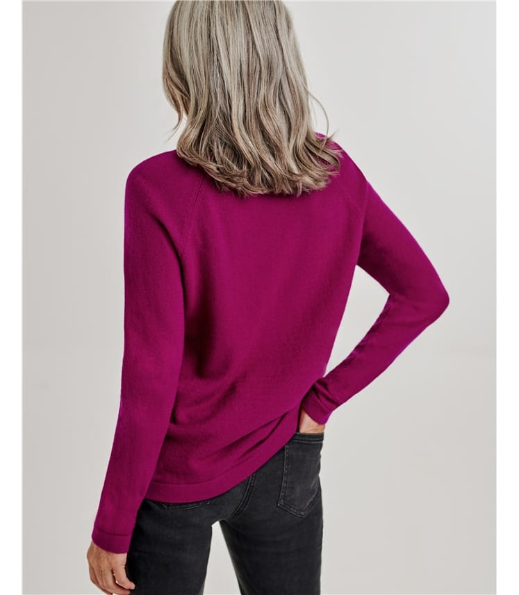 Womens Merino Pearl Bead Sweater