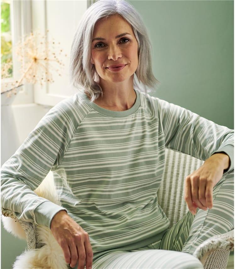 Haut de pyjama rayé - Femme - Jersey