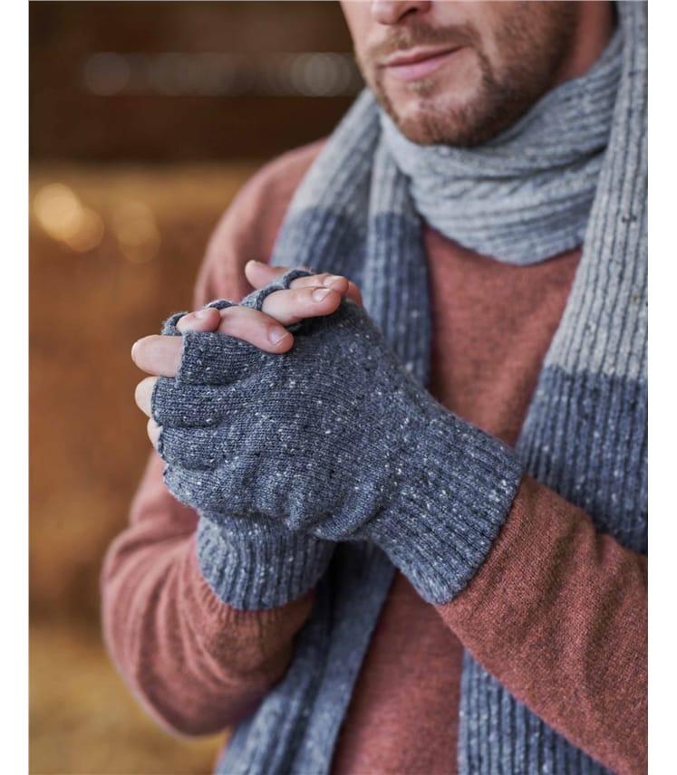 """Fingerlose Handschuhe im """"Donegal Tweed""""-Stil für Herren"""