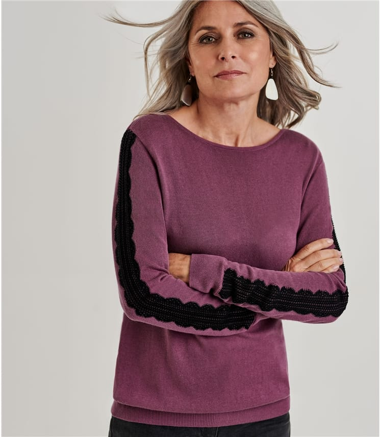 Lace Sleeve Detail Jumper