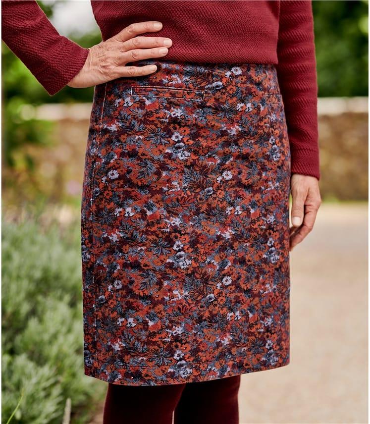 Womens Cut Cord Skirt