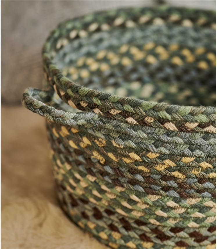 Organic Jute Multi Col Medium Basket