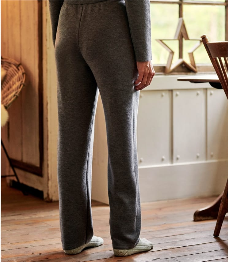 Womens Merino Wool Wide Leg Jogger